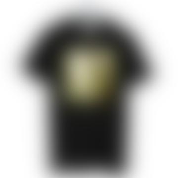 starstyling Black Gold Mirror Big Square T Shirt