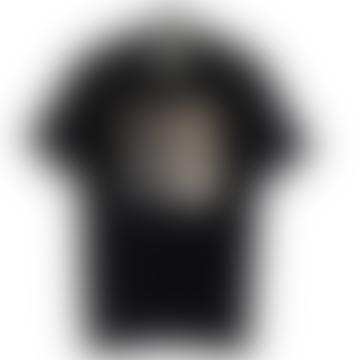 Black Silver Mirror Big Square T Shirt