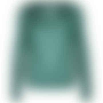 LIZZ Green Plain Long Sleeve Blouse
