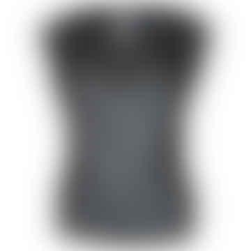 Format LIZZ Black Plain Blouse