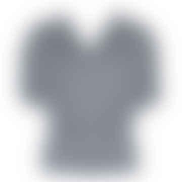 MELT Dark Grey Ecru Striped Interlock Shirt