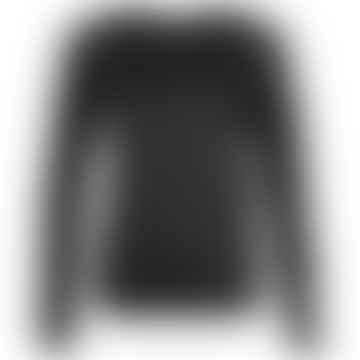 LENE Black Linen Jersey Sweater