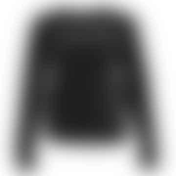 LENE Black Velours Sweater
