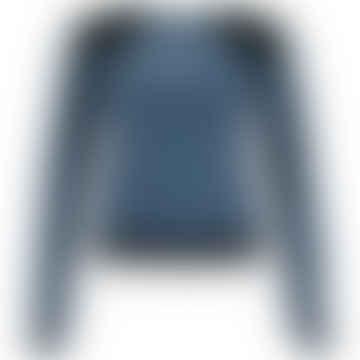 LENE Grey Black Velours Sweater