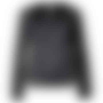 LIZZ Black Plain Long Sleeve Top