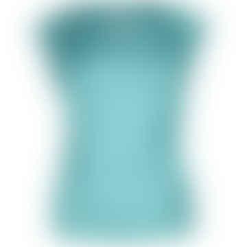 Format LIZZ Blue Green Plain Blouse