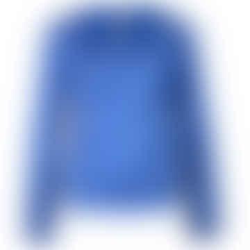 LIZZ Blue Plain Long Sleeve Top