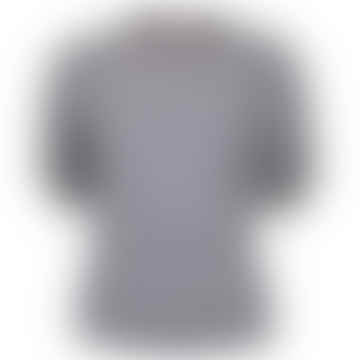 MIND Grey Ecru Striped Interlock Shirt
