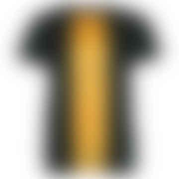 RACE Black & Wood Single Plain T-Shirt