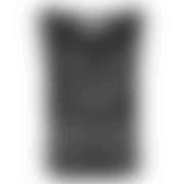 TRIA Black Linen Jersey Top