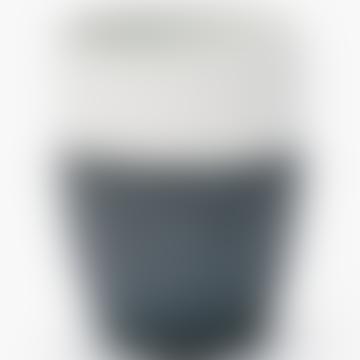 Black and White Two Tone Mug Plant Pot