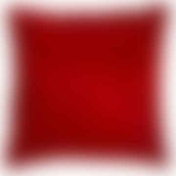 Red Cowhide Cushion