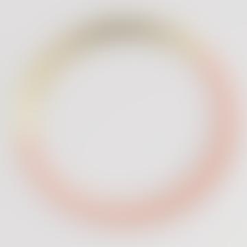 Brass Blush Form Circle Bangle