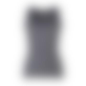 Rosemunde  Navy Ivory Stripe Sleeveless Silk Blend Top