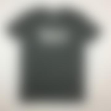 Heather Steel Grey White Essentials Logo Organic Cotton S S Tee Shirt