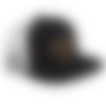 Dark Seas Black Displacement Trucker Hat