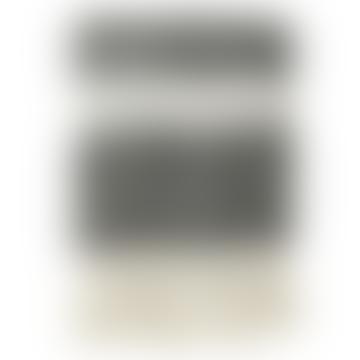 Grey Mohair Look Striped Blanket