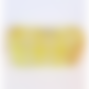 Small Neon Yellow Geo Print Wash Bag Cosmetic Bag