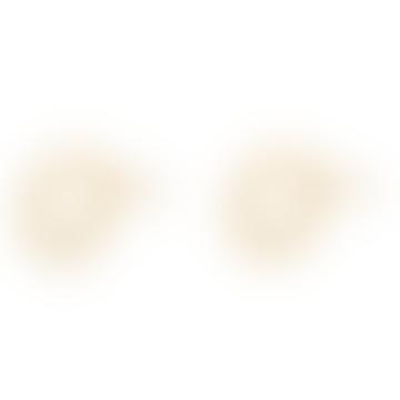 Goldene Kreis-Ohrstecker