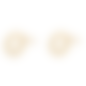 Golden Circle Studs Earrings