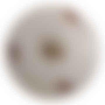 Large Round White Ceramic Door Knob