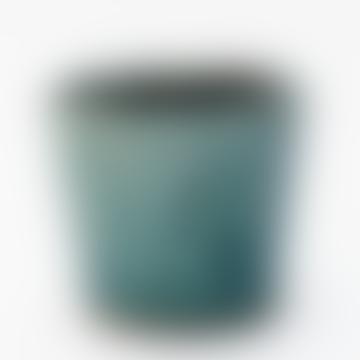 Turquoise Crackle Glazed Pot