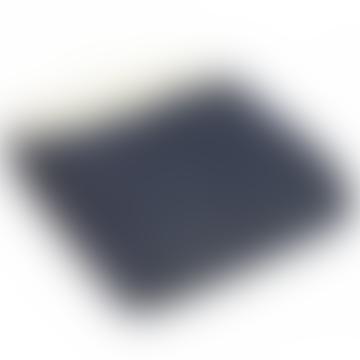 Navy Fishbone Pure New Wool Throw 150cm x  183cm
