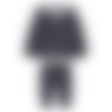 Charcoal Grey Boys Hooded Sweatshirt & Joggers Set