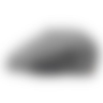 Black Hatteras Herringbone Virgin Wool Flat Cap