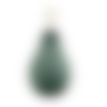 Large Green Pear Shaped Handblown Glass Perfume Bottle