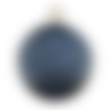 Large Blue Spiral Detailed Handblown Glass Perfume Bottle