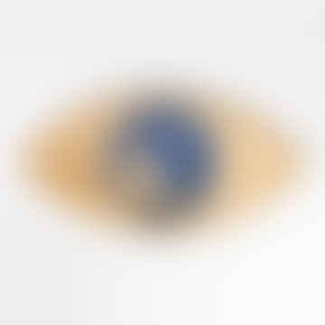 The Eye 2 Gold & Blue Metal Trays