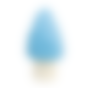 Light Blue Point Mushroom Lamp