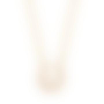 Gold Pearl Horseshoe Necklace