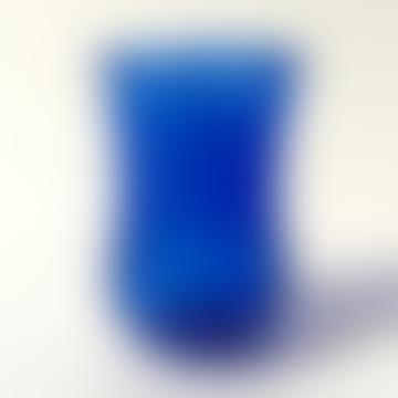 Cobalt Blue Art Deco Tea Glass