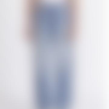 Blue Virginia Boyfriend Jeans With Side Stripe