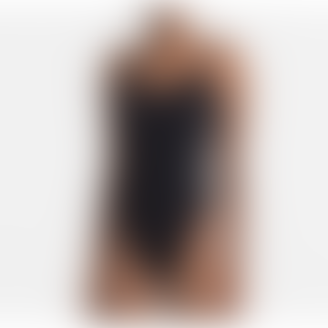 Black W Branded Contour Scoop Low Back One Piece