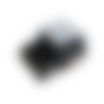 Black Polka Dot Classic Wooden Wind Up Car