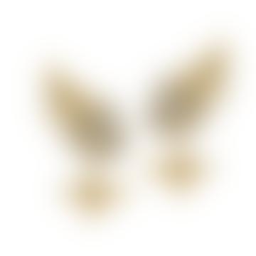Alex Monroe Posy Cluster Earrings with Bee