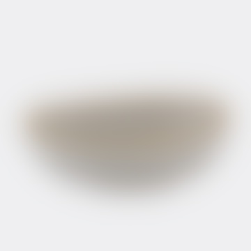 White Matt Glazed Oval Bowl with Gold Trim