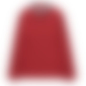 Tinsels Holly Elegant Long Sleeves Mesh Printed Collar Carmin Shirt