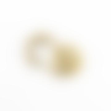 Llavero con mosquetón de latón - Dorado