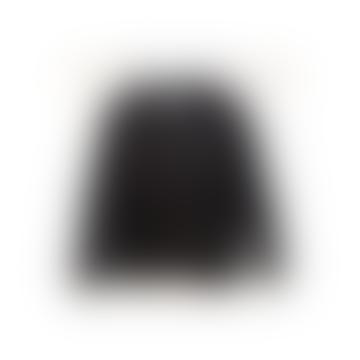 Velvet Black Quilted Puffer Pea Coat Jacket