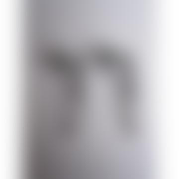 CollardManson Silver Bar Chain Earrings