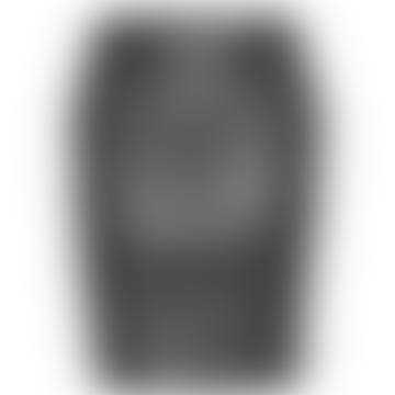 Black Char Leather Mini Skirt