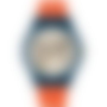 Navy & Red Linear Stem Strap Bobby Watch