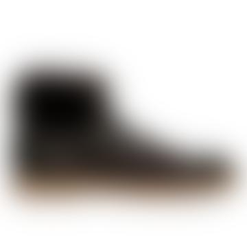 Santoni Brown Fur Lined Lace Boots