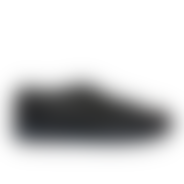 Santoni Navy Fur Lined Low Top Trainers
