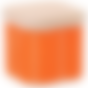 Linear Stem Persimmon Enamel Storage Jar with Beech Lid
