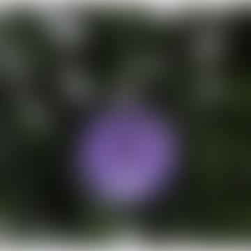 Festive Purple Glass Glitter Shimmer Bauble